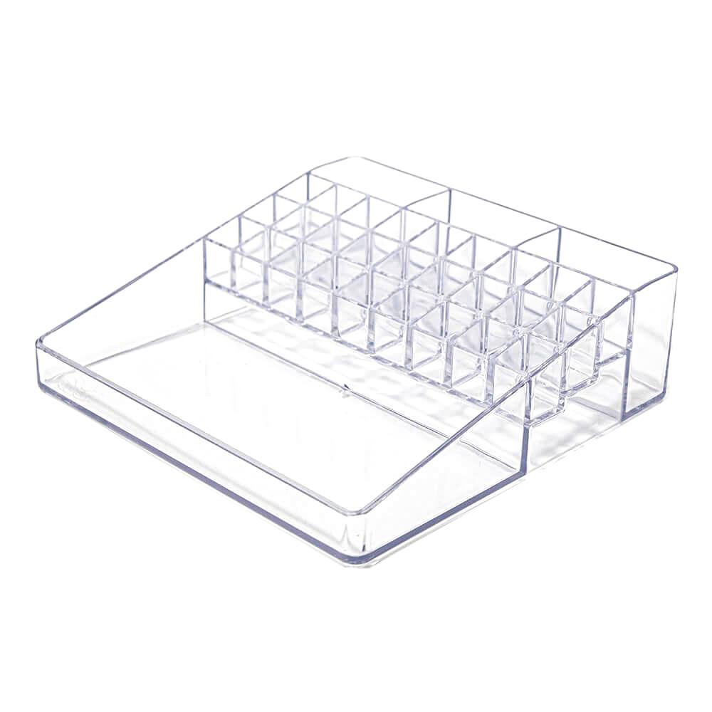 Organizador de Batons e Cosméticos Plus com 31 nichos