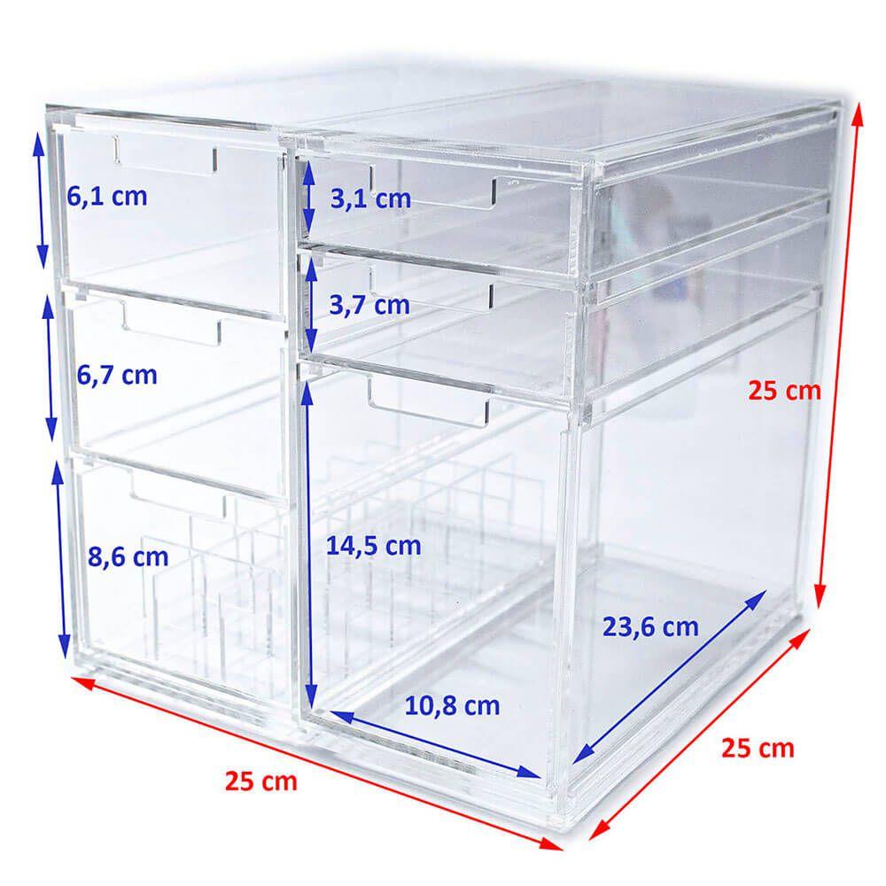 Organizador Gaveteiro Acrílico Make Cube