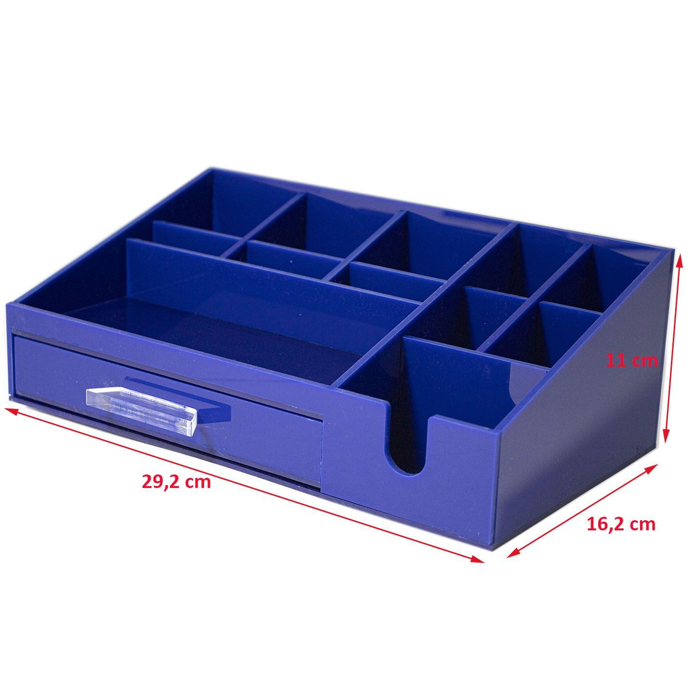 Organizador Para Escritório Office Acrílico Azul