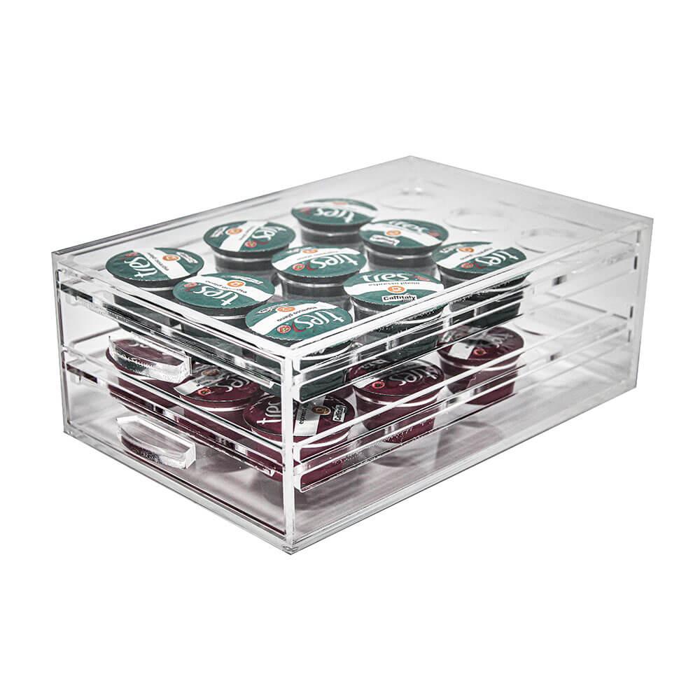 Porta Cápsulas Acrílico para 24 cápsulas 3Corações
