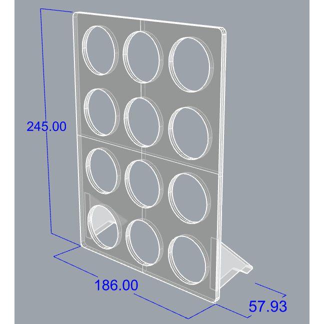 Porta Cápsulas vertical Dolce Gusto 12