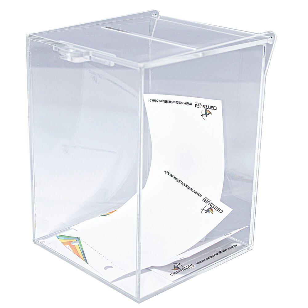 Urna em Acrílico Transparente 15 x 15 x 20 cm