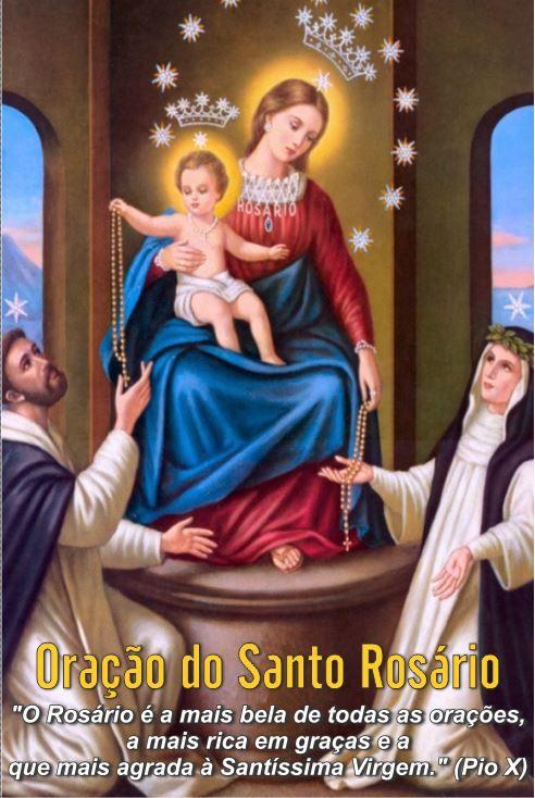 Santinhos da Oração do Santo Rosário - Milheiro  - Ruah Artigos Católicos