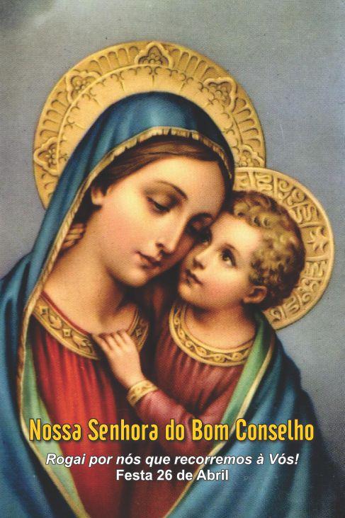 Santinhos de Nossa Senhora do Bom Conselho - Milheiro  - Ruah Artigos Católicos