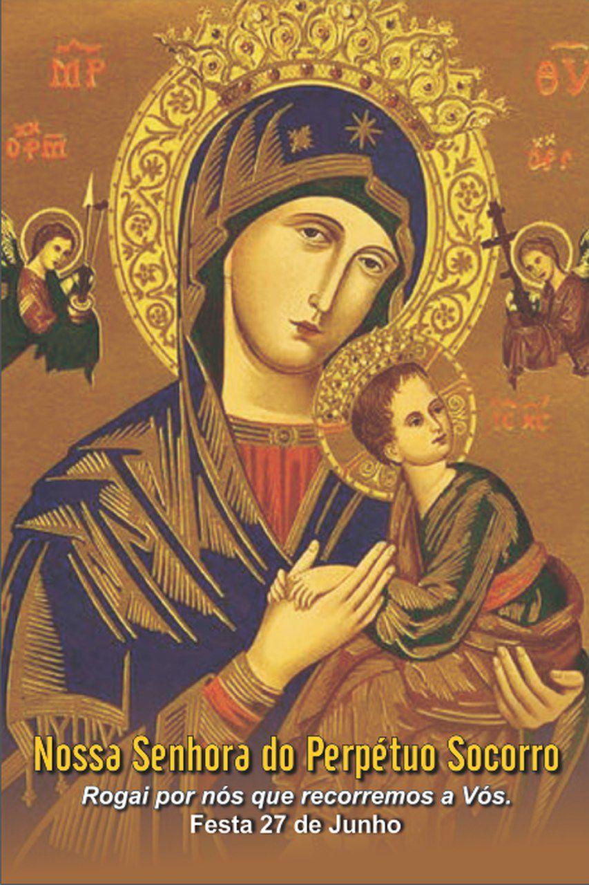 Santinhos de Nossa Senhora do Perpétuo Socorro - Milheiro  - Ruah Artigos Católicos