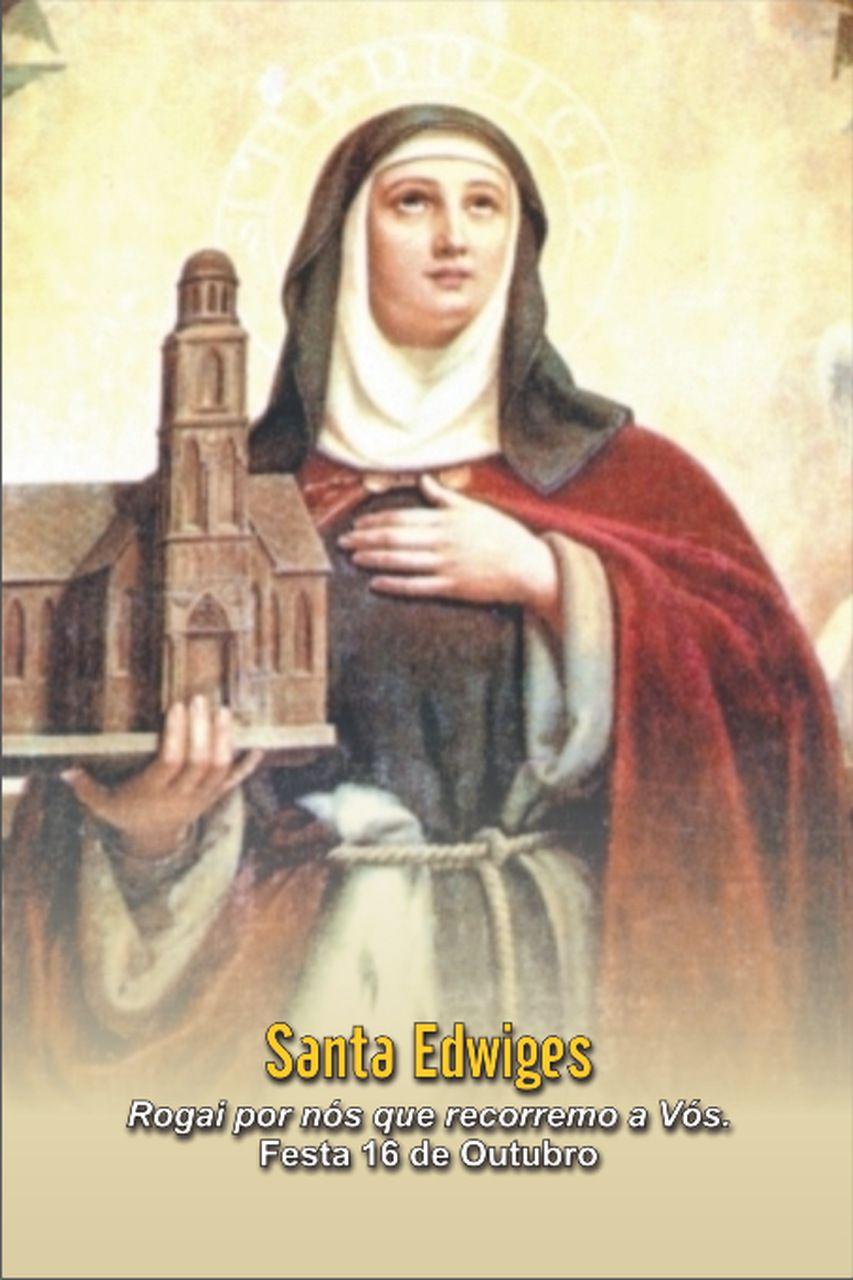 Santinhos de Santa Edwiges - Milheiro  - Ruah Artigos Católicos