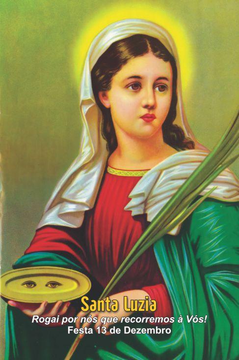 Santinhos de Santa Luzia - Milheiro  - Ruah Artigos Católicos