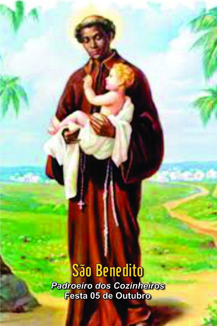 Santinhos de São Benedito - Milheiro  - Ruah Artigos Católicos