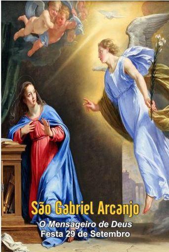 Santinhos de São Gabriel Arcanjo - Milheiro  - Ruah Artigos Católicos
