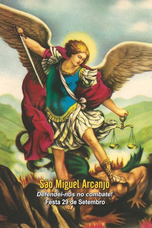 Santinhos de São Miguel Arcanjo - Milheiro  - Ruah Artigos Católicos