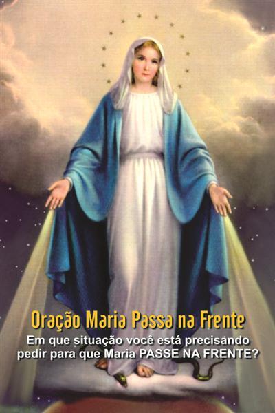 Santinhos Maria Passa na Frente - Milheiro  - Ruah Artigos Católicos