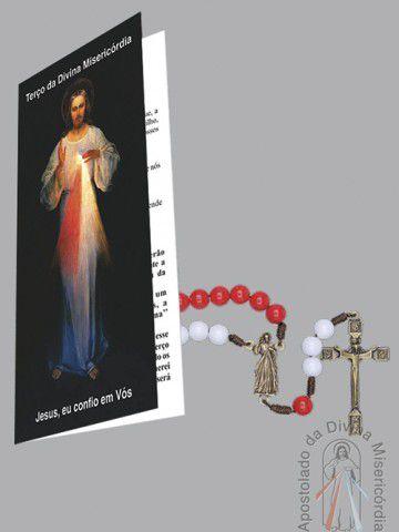 Terço da Divina Misericórdia com Folheto  - Ruah Artigos Católicos