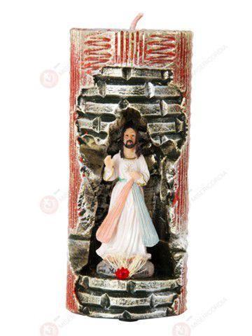 Vela Decorativa de Jesus Misericordioso  - Ruah Artigos Católicos