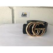 Cinto Da Gucci Importado Dourado Couro Blogueiras