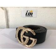 Cinto Gucci Importado Gg Dourado com Detalhes