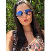 Oculos de Sol Ray Ban Aviador Prata e Azul degradê RB3025