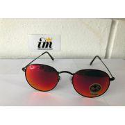 Óculos de Sol Ray Ban Round Vermelho Replica Primeira Linha