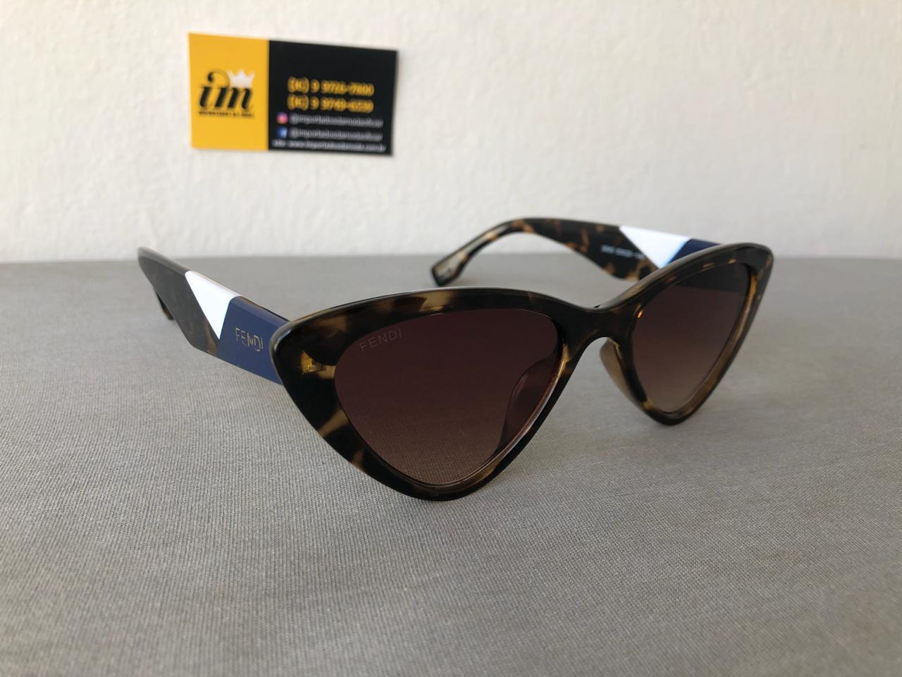 Oculos de Sol Fendi Gatinho S650 Tartaruga