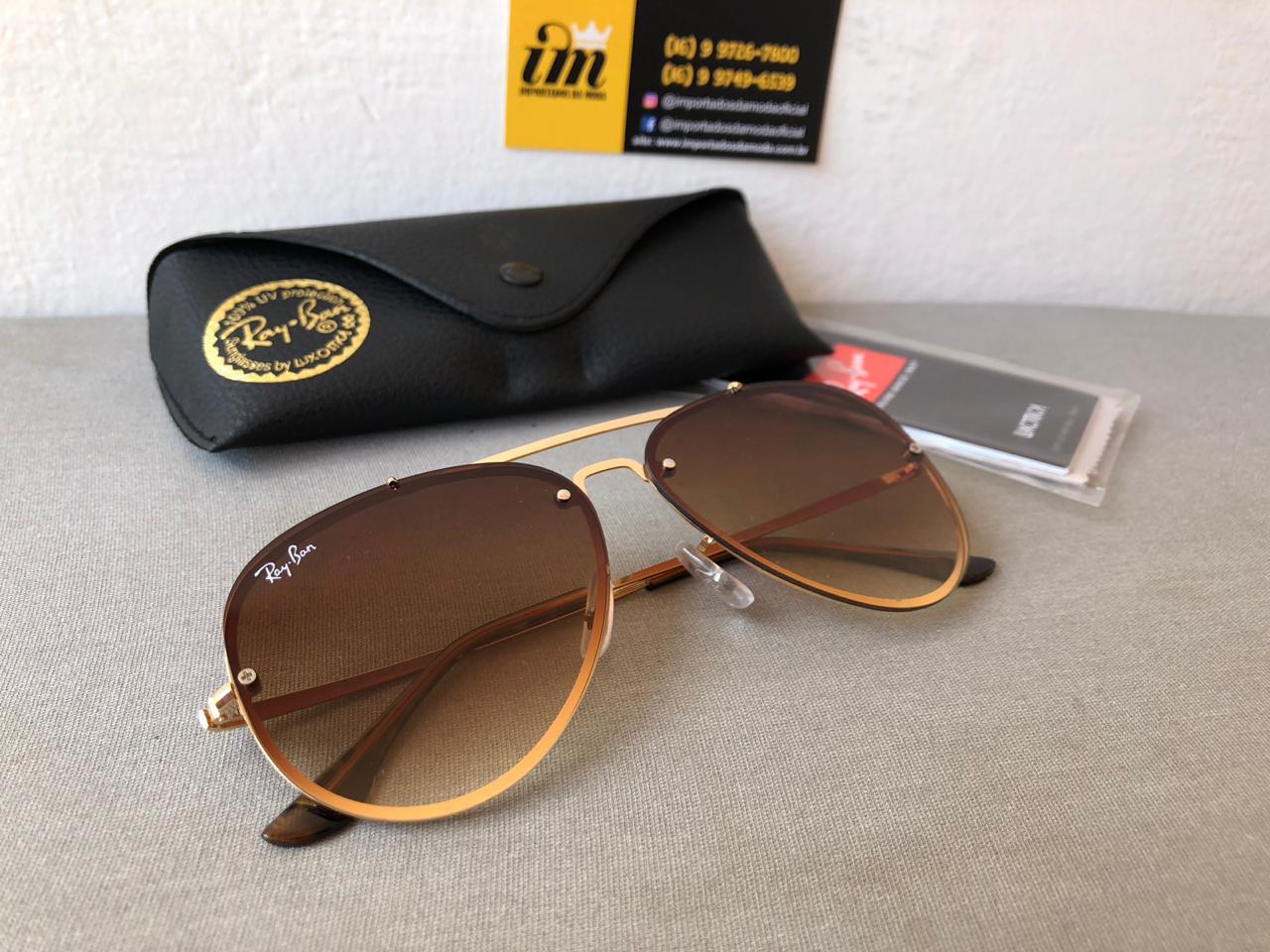 aac5265631108 Oculos De Sol Ray Ban Blaze Aviador Rb3584