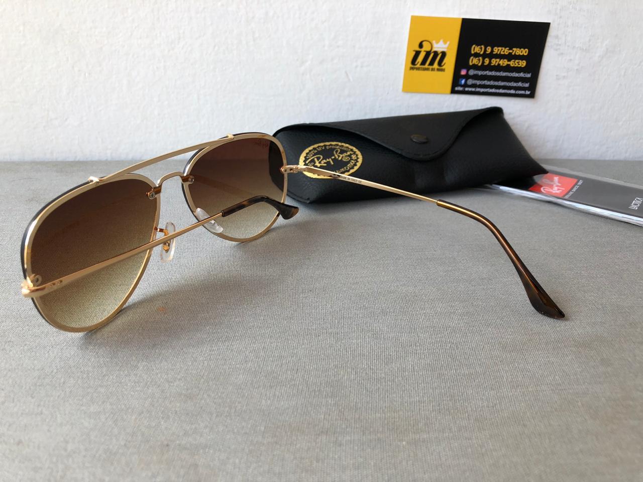 Oculos De Sol Ray Ban Blaze Aviador Rb3584