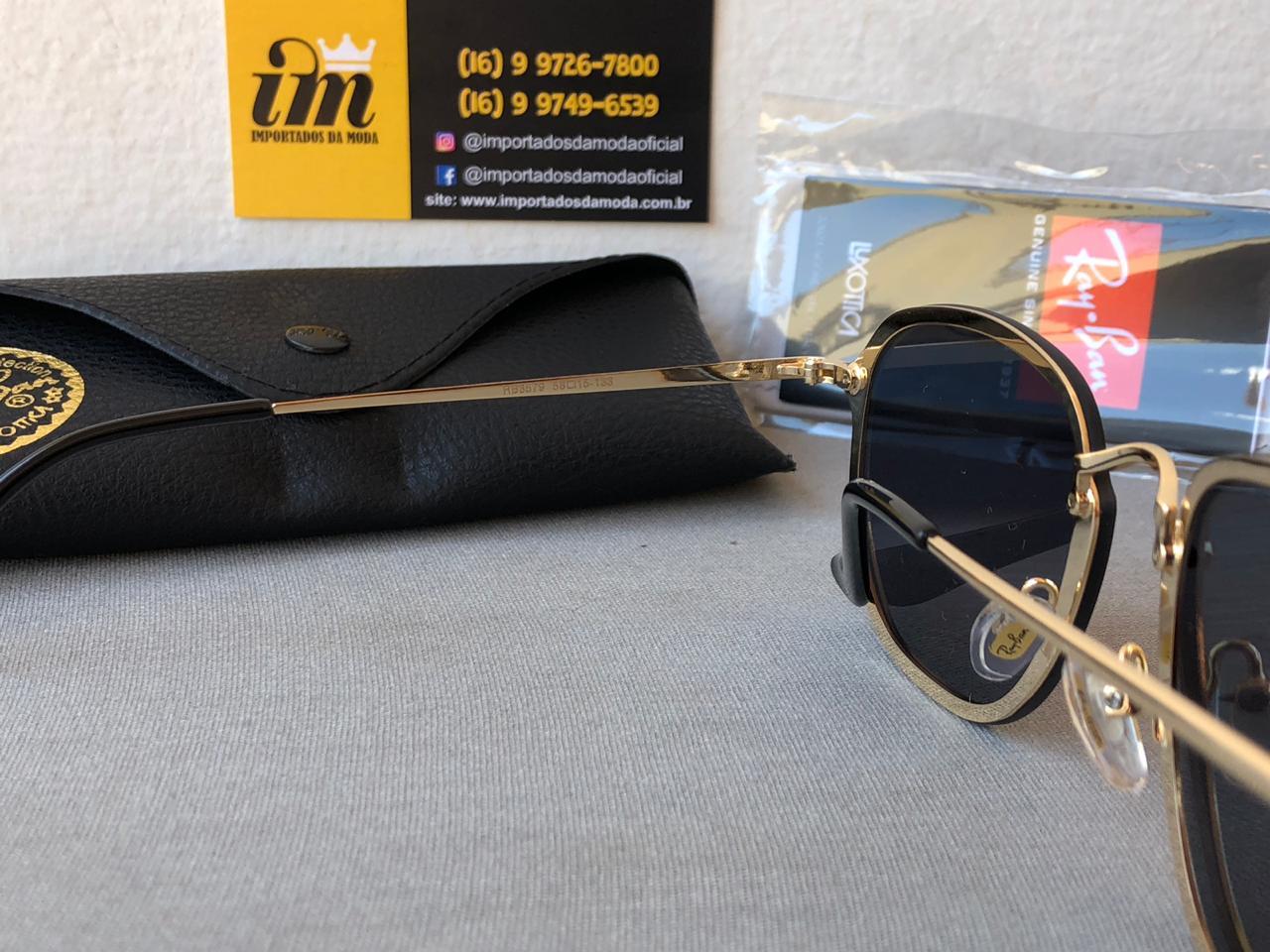 Oculos De Sol Ray Ban Hexagonal Blaze Primeira Linha Réplica