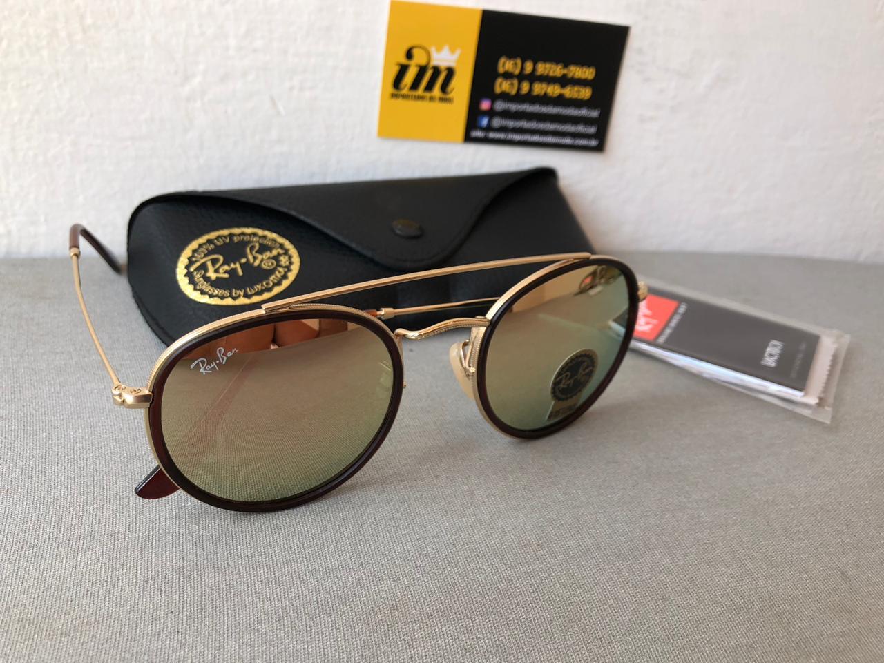 f81c78dac0fad Oculos de Sol Ray Ban Round Double Bridge Rb3647