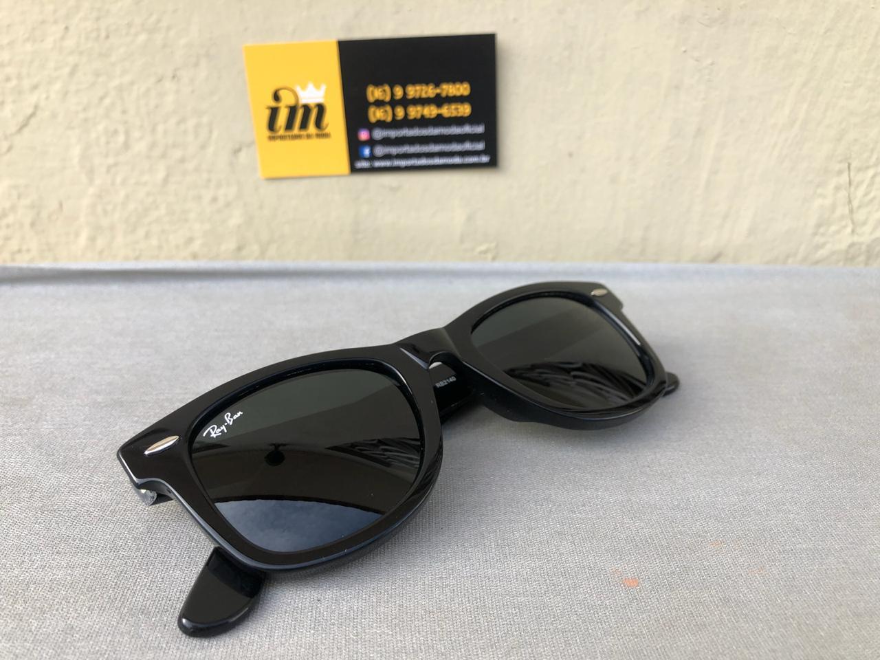 d96094021 Óculos de Sol Ray Ban Wayfarer Réplica Primeira Linha