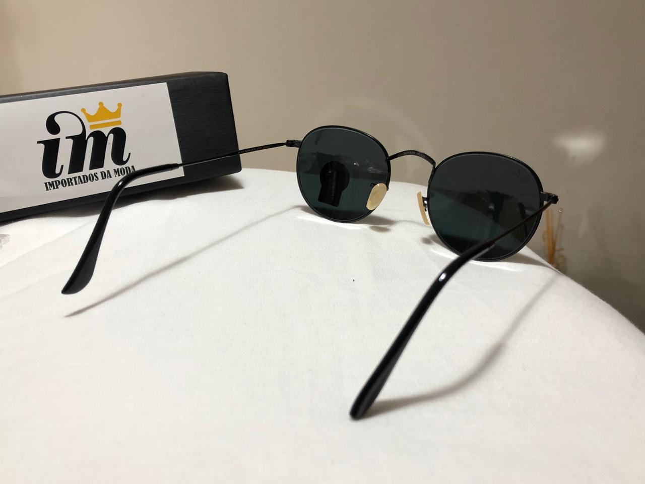 Ray Ban Round Preto Replica Óculos de Sol Primeira Linha