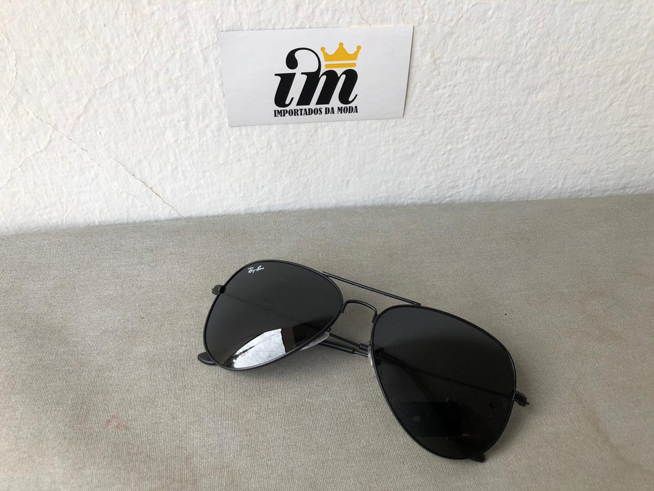 Oculos Sol Aviador Preto Replica
