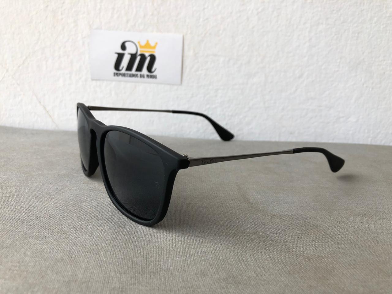 Oculos Sol Chris Preto Replica Primeira Linha