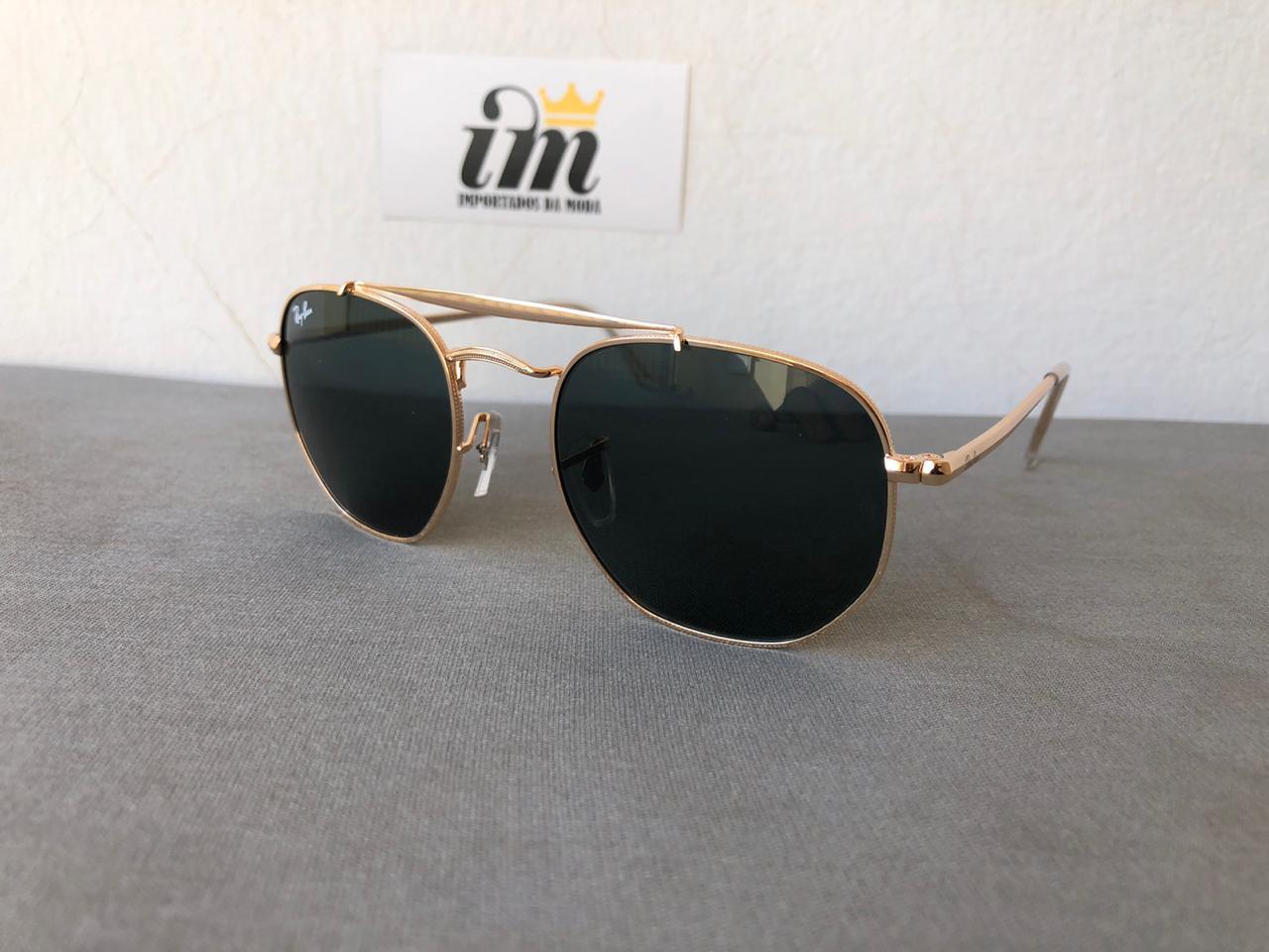 Oculos Sol Marshal Dourado Preto Replica Primeira Linha