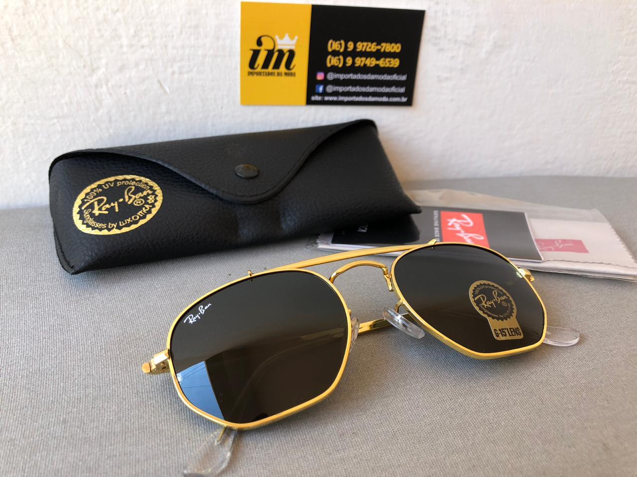 Óculos Sol Ray-ban Marshal Rb3648 Dourado