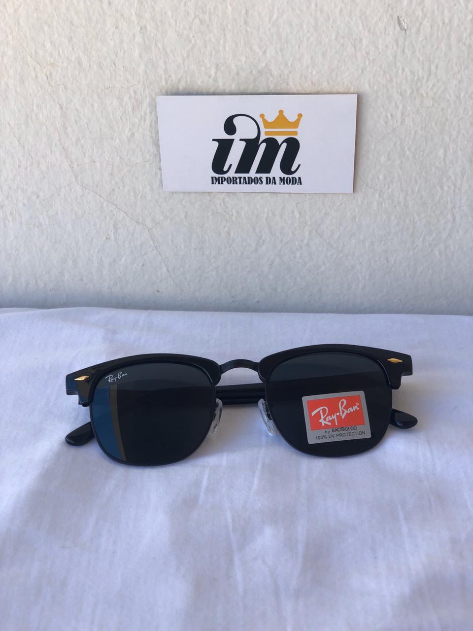 Oculos Sol RB Clubmaster Preto Acetato