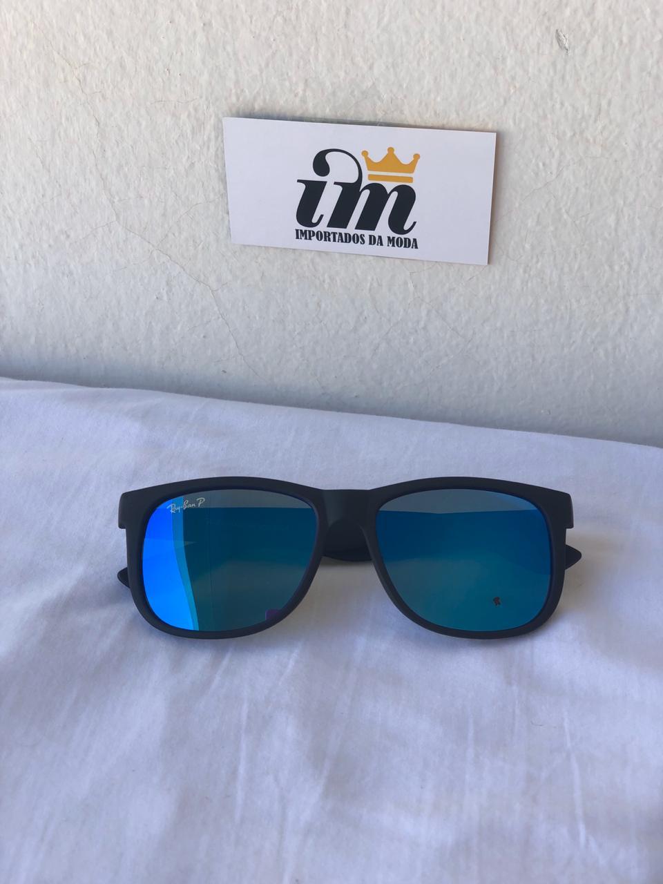 Oculos Sol RB Justin Azul Fosco