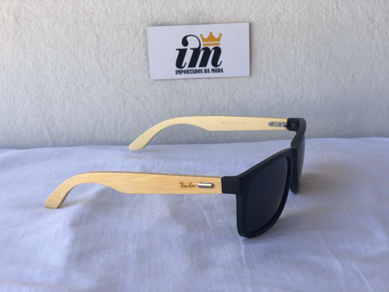 Oculos Sol RB Justin Estilo Madeira Replica
