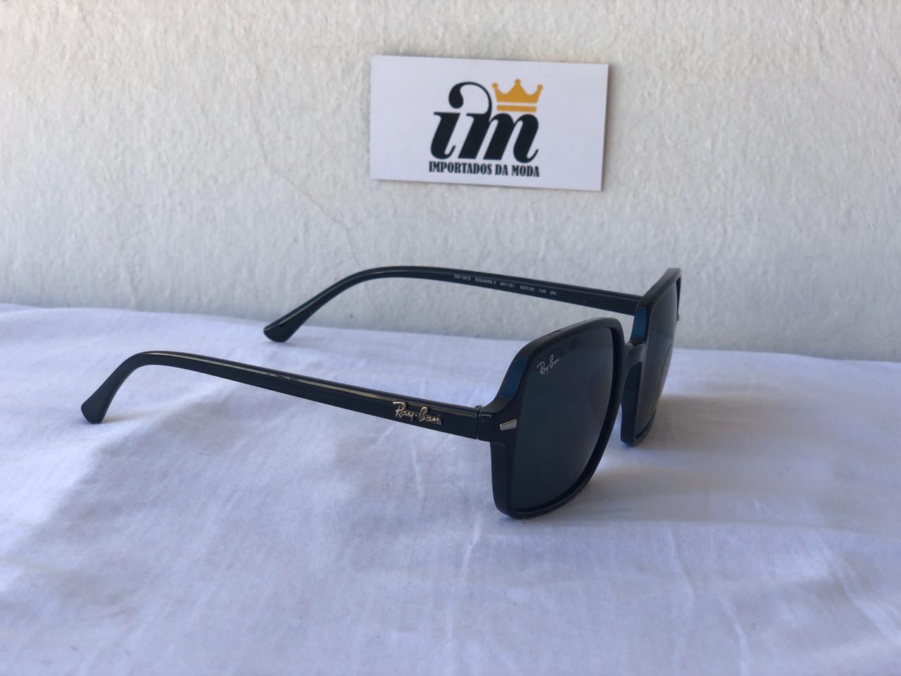 Oculos Sol RB Square ii Preto Acetato Replica
