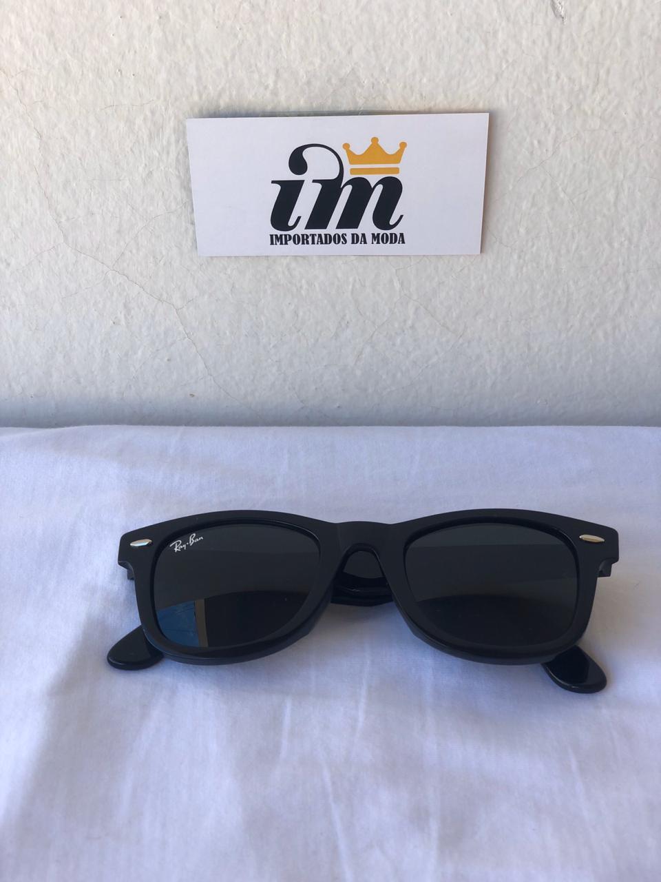Oculos Sol RB Wayfarer Preto Brilhante