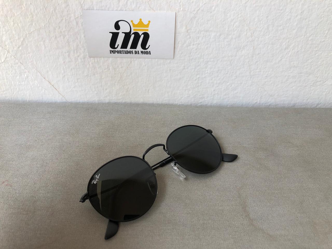 Oculos Sol Round Preto Replica Primeira Linha