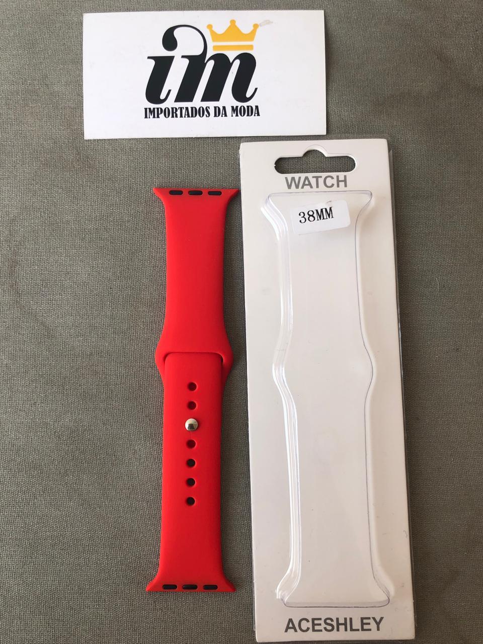 Pulseira Apple Watch 38 mm Esportiva Vermelho