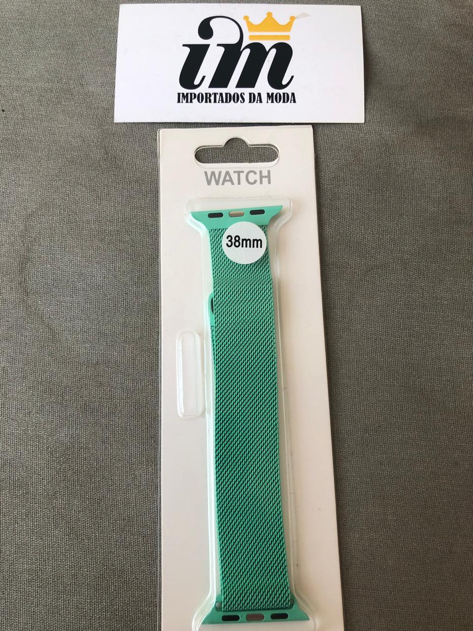 Pulseira Apple Watch 38 mm Milanes Verde Piscina