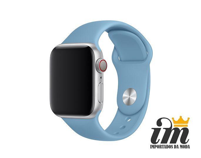 Pulseira Apple Watch 42 mm Esportiva Azul Bebe