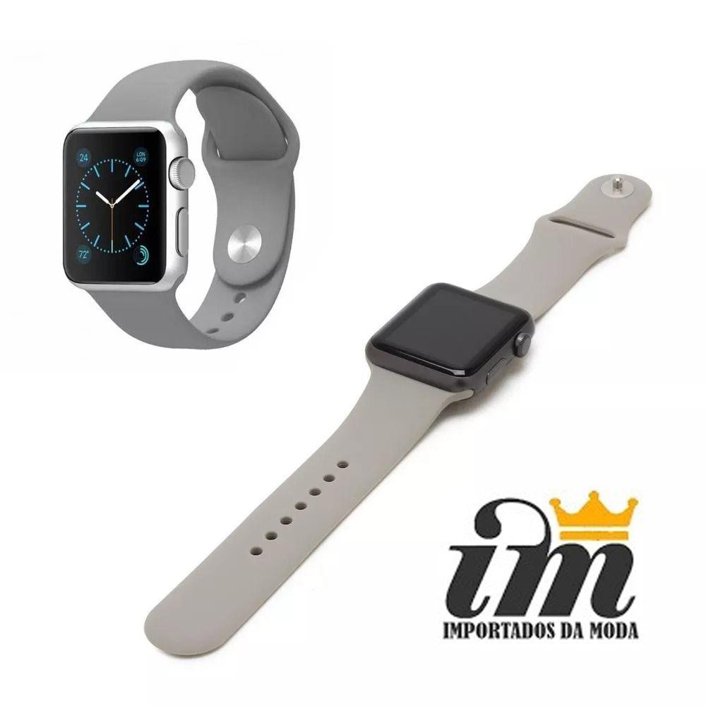 Pulseira Apple Watch 42 mm Esportiva Cinza