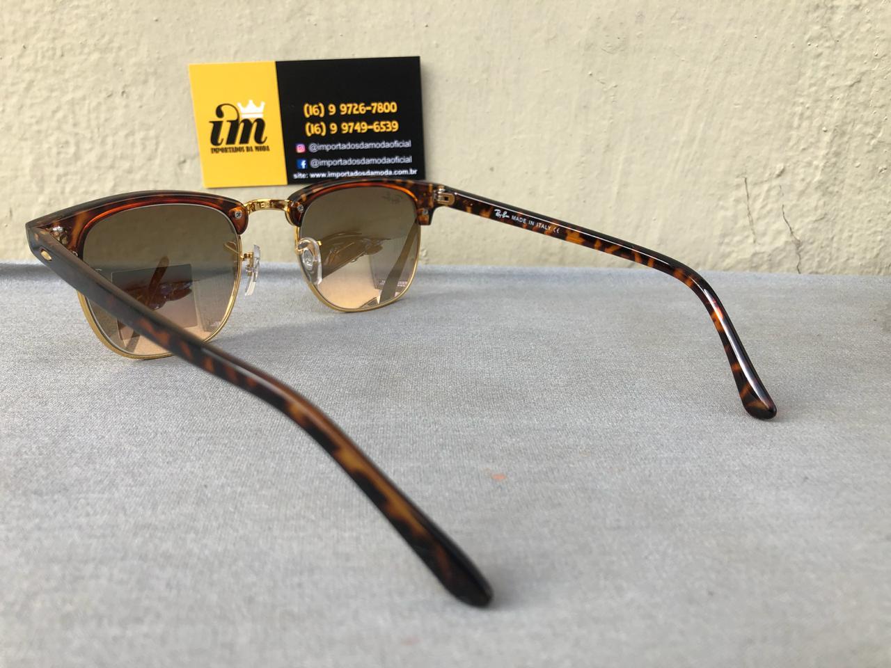 397602a0e Ray Ban Clubmaster Oculos De Sol Primeira Linha Replica