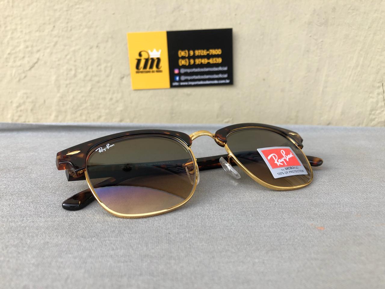 Ray Ban Clubmaster Oculos De Sol Primeira Linha Replica