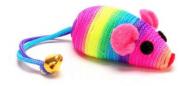 Brinquedo American Pets Cat Toy Ratinho Arco-Íris - 1 Unidade