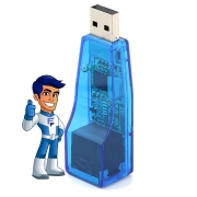 Adaptador Conversor USB x RJ45 ( USB Para Lan ) UL-100 Exbom