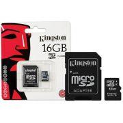 CARTÃO MICRO SD 16GB CLASSE 10 KINGSTON