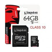 Cartão Micro SD 64GB Kington Classe 10