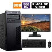 Computador Completo Cpu Lenovo I5 8GB HD 500GB Monitor