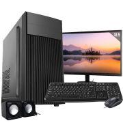 Computador Completo Intel 4GB HD 500GB  Wifi Win10 c/ Monitor